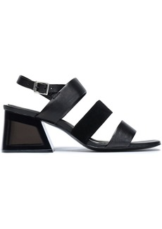 Rag & Bone Woman Reese Leather And Suede Slingback Sandals Black