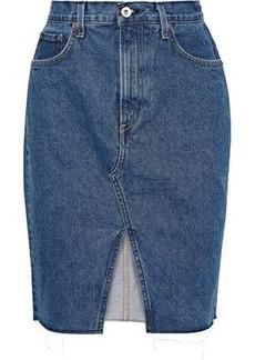 Rag & Bone Woman Suji Denim Mini Skirt Mid Denim