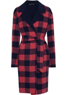 Rag & Bone Woman Sven Reversible Checked Wool-blend Felt Coat Crimson