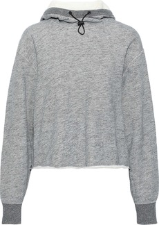 Rag & Bone Woman Sweat French Cotton-terry Hoodie Gray