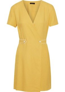 Rag & Bone Woman Tabitha Textured-twill Mini Wrap Dress Yellow