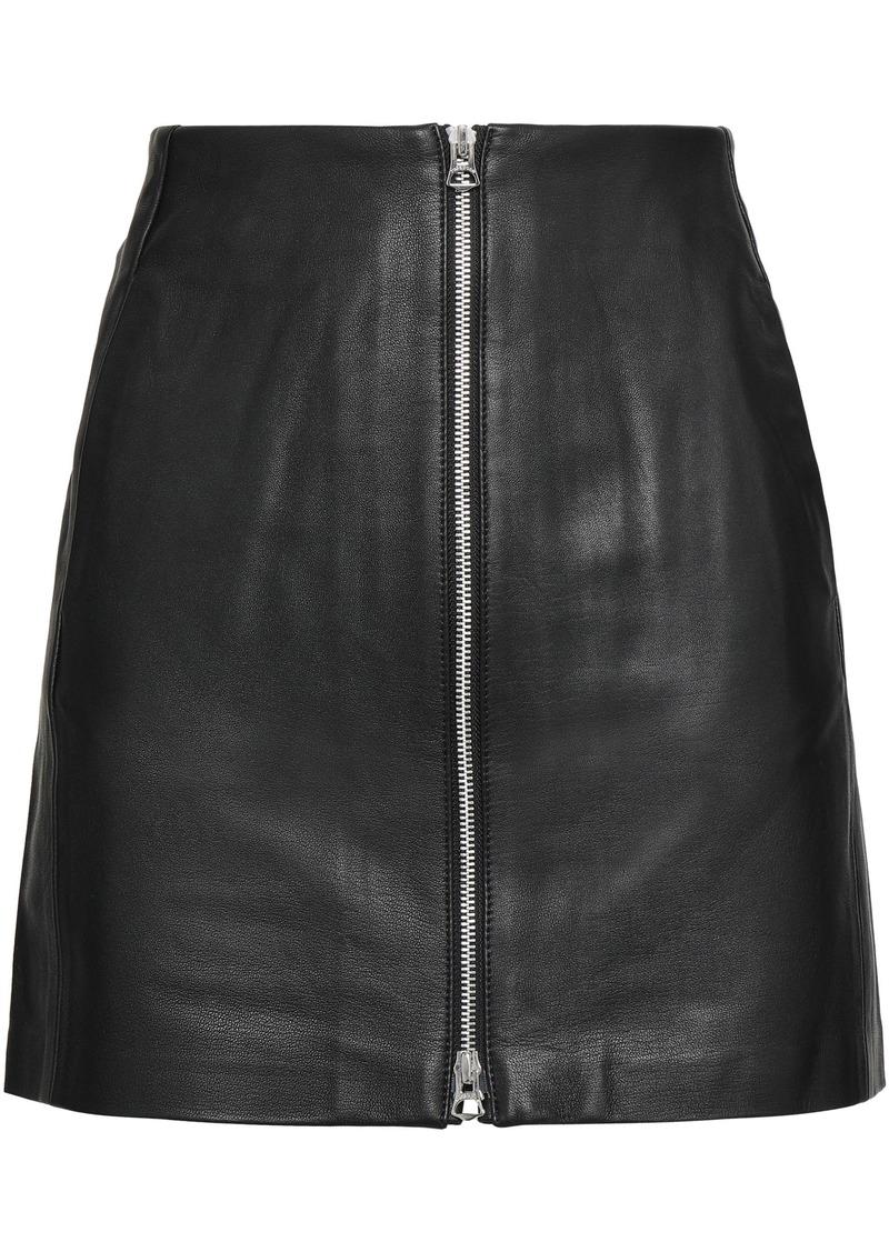 Rag & Bone Woman Textured-leather Mini Skirt Black