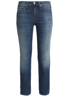 Rag & Bone Woman The Ankle Skinny Cropped Faded Mid-rise Skinny Jeans Mid Denim