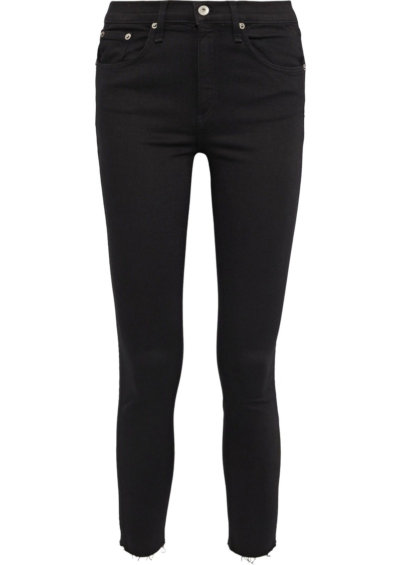 Rag & Bone Woman The Ankle Skinny Mid-rise Skinny Jeans Black
