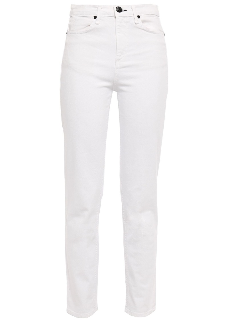 Rag & Bone Woman The Cigarette High-rise Straight-leg Jeans White