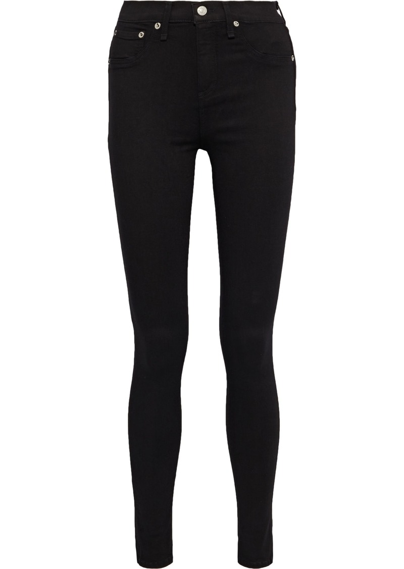 Rag & Bone Woman The High Rise Skinny High-rise Skinny Jeans Black