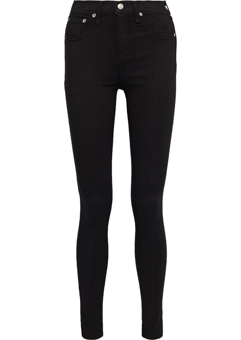 Rag & Bone Woman The High Rise Skinny High-rise Skinny Jeans Black