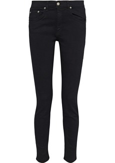 Rag & Bone Woman The Skinny Low-rise Skinny Jeans Black
