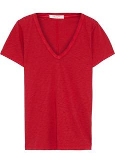 Rag & Bone Woman Slub Pima Cotton-jersey T-shirt Crimson
