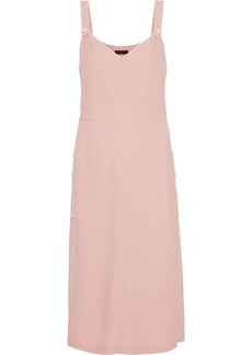 Rag & Bone Woman Tia Button-detailed  Textured-twill Midi Slip Dress Pastel Pink