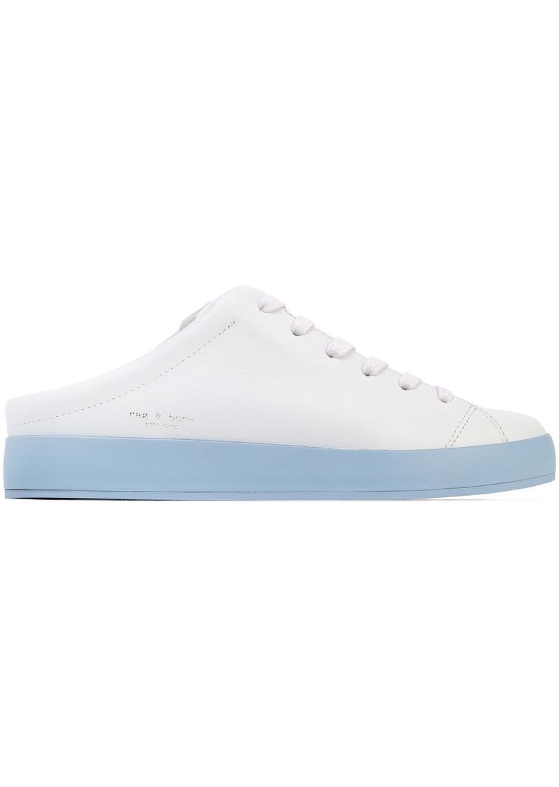 Rag & Bone Woman Two-tone Leather Slip-on Sneakers White