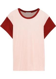 Rag & Bone Woman Penny Two-tone Satin-jersey T-shirt Baby Pink