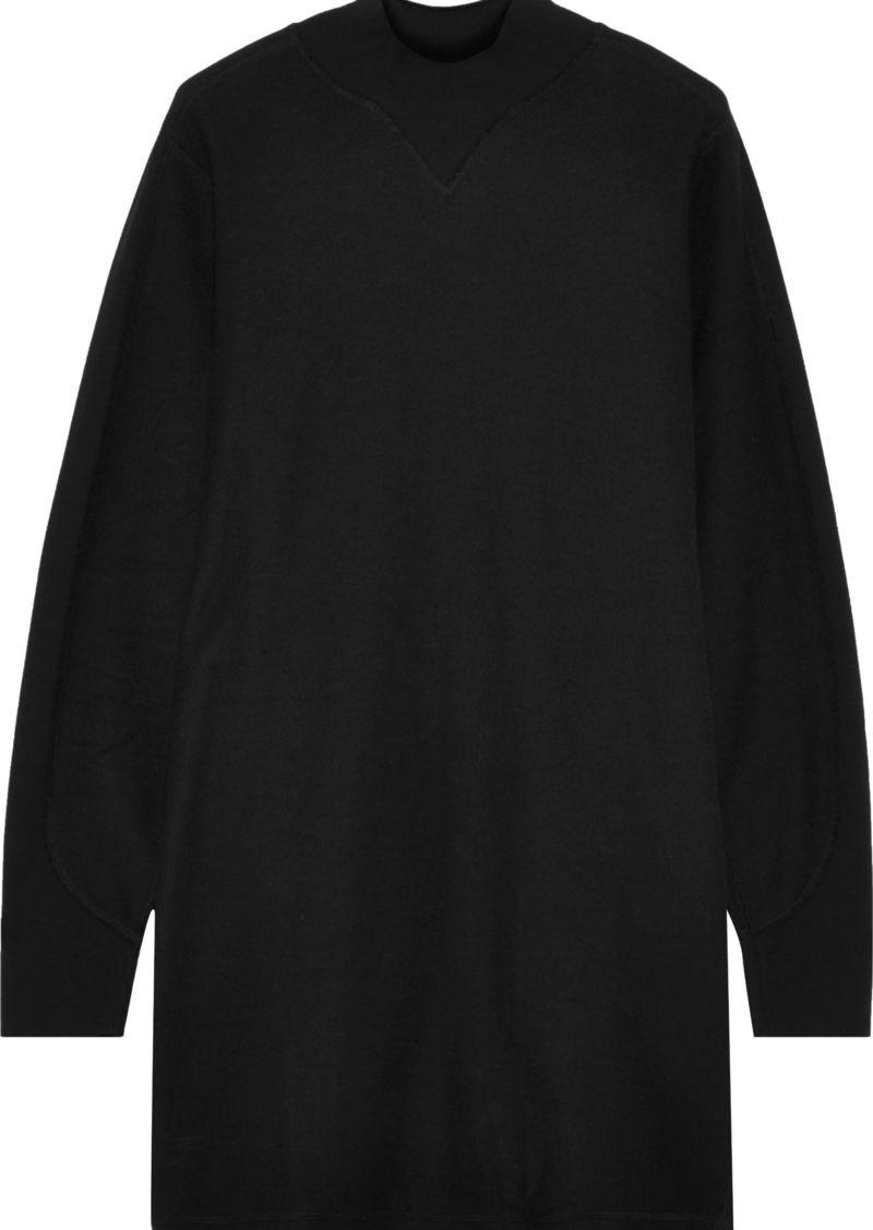 Rag & Bone Woman Utility Cotton-terry Turtleneck Mini Dress Black