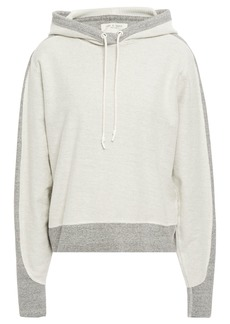 Rag & Bone Woman Utility Two-tone Cotton-terry Hoodie Off-white