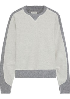 Rag & Bone Woman Utility Two-tone Cotton-terry Sweatshirt Light Gray