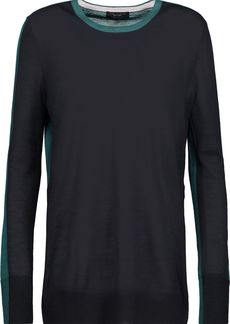 Rag & Bone Woman Verity Two-tone Cashmere Top Midnight Blue