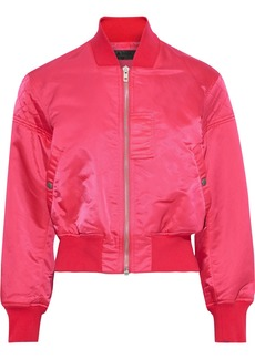 Rag & Bone Woman Wesley Quilted Sateen Bomber Jacket Fuchsia