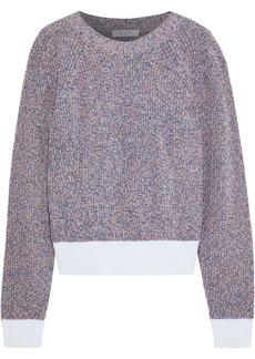 Rag & Bone Woman Wheeler Marled Cotton Sweater Taupe