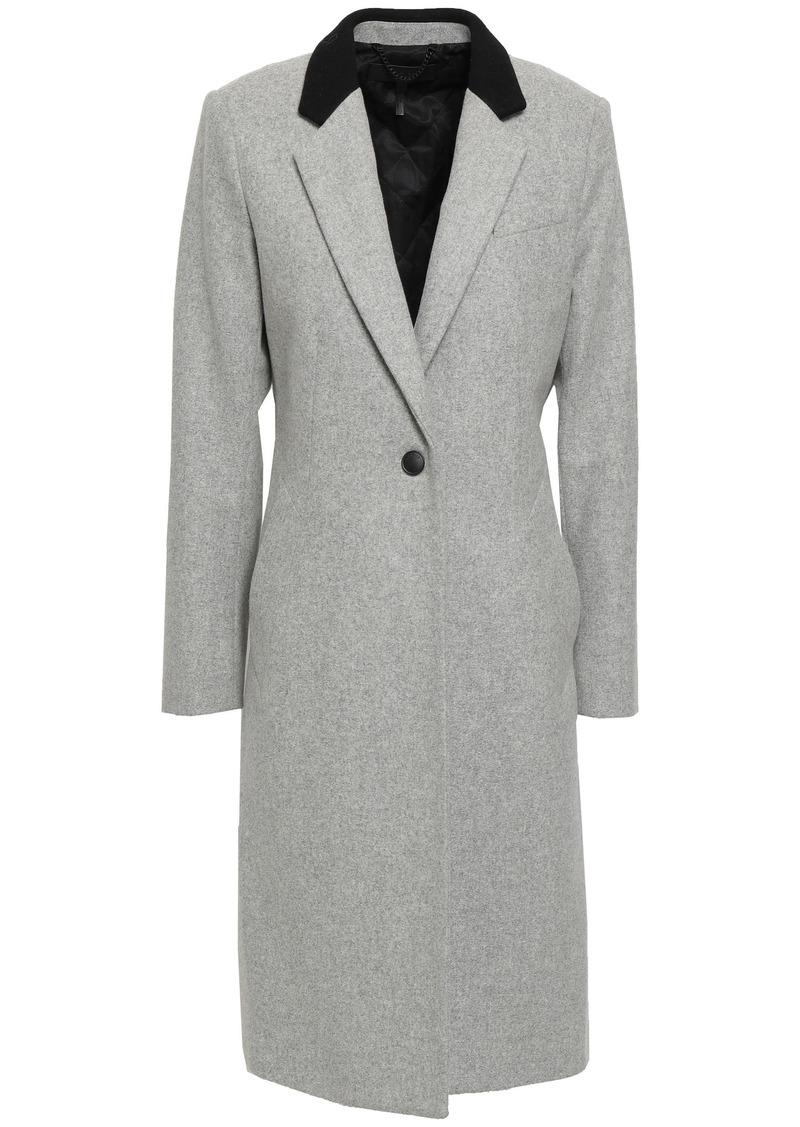 Rag & Bone Woman Wool-blend Felt Coat Light Gray