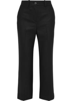 Rag & Bone Woman Wool-blend Straight-leg Pants Black