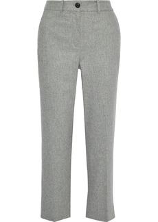 Rag & Bone Woman Libby Mélange Wool-blend Straight-leg Pants Stone