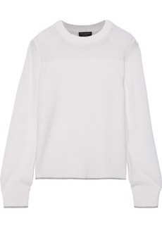 Rag & Bone Woman Yorke Open Knit-paneled Cashmere Sweater Ivory