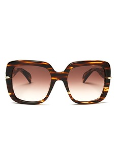 rag & bone Women's 1004 Gradient Square Sunglasses, 56mm