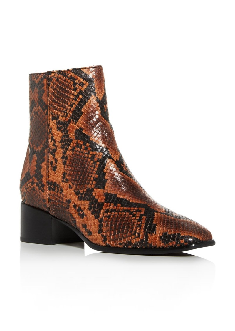 rag & bone Women's Aslen Snake-Print Booties