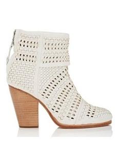 Rag & Bone Women's Classic Newbury Woven Leather Ankle Boots
