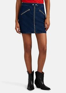 Rag & Bone Women's Cotton Denim Racer Miniskirt