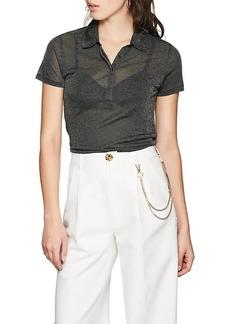 Rag & Bone Women's Dawson Metallic Polo Shirt