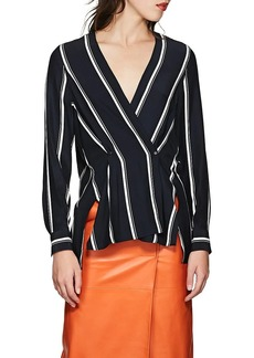 Rag & Bone Women's Debbie Striped Silk Blouse
