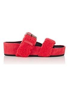 Rag & Bone Women's Evin Shearling Platform Slide Sandals