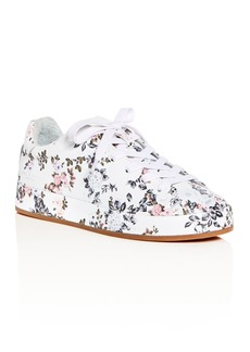 rag & bone Women's Floral Print Leather Lace Up Platform Sneakers