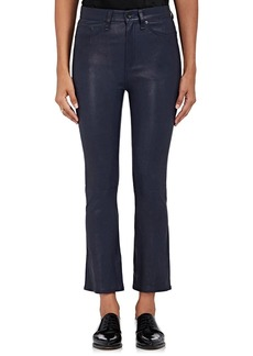 Rag & Bone Women's Hana Leather Crop Flared Jeans