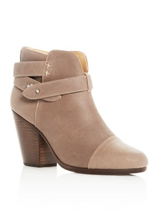 rag & bone Women's Harrow Waxed Leather Cap Toe High-Heel Booties