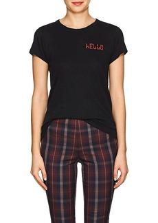 "Rag & Bone Women's ""Hello"" Cotton T-Shirt"