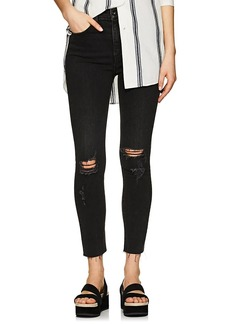 Rag & Bone Women's High Rise Ankle Skinny Distressed Jeans