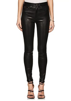 Rag & Bone Women's High Rise Skinny Leather Jeans