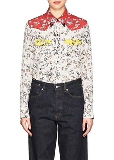 Rag & Bone Women's Jasper Colorblocked Floral Silk Blouse
