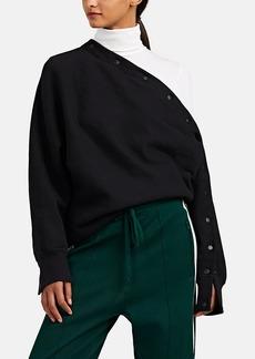 Rag & Bone Women's Kate Asymmetric Snap-Detailed Cotton Sweatshirt