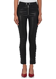 Rag & Bone Women's Kiku Leather Lace-Up Jeans
