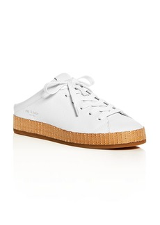 rag & bone Women's Leather Platform Mule Sneakers