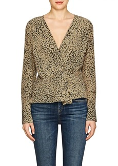 Rag & Bone Women's Leopard-Print Silk Blouse