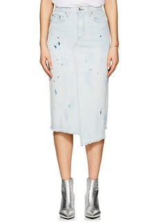 Rag & Bone Women's Paint Splatter Denim Pencil Skirt