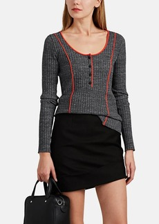 Rag & Bone Women's Pak Rib-Knit Cotton Sweater