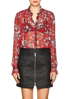 Rag & Bone Women's Susan Floral Silk Blouse
