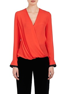 Rag & Bone Women's Victor Silk Georgette Blouse