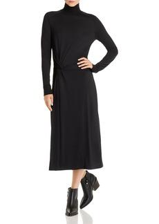 rag & bone Wool Mock-Neck Midi Dress