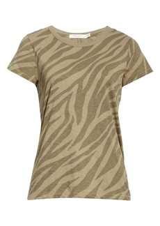 rag & bone Zebra Print Cotton Tee